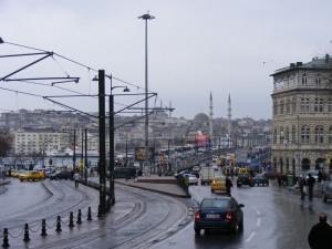 Istanbul im Regen