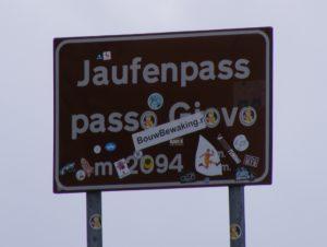 Jaufenpass-Schild