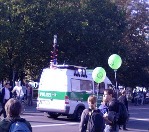 Kamerawagen der Polizei